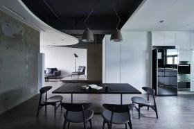 黑色时尚现代餐厅设计装潢