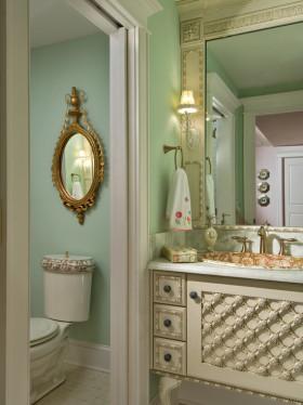浪漫优雅欧式风格卫生间设计欣赏