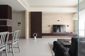 原木色现代客厅电视背景墙设计