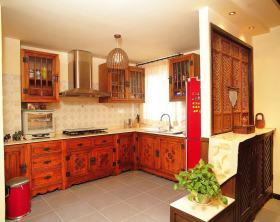 雅致新中式创意风格厨房装修布置