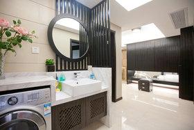 黑色中式风格卫生间设计图