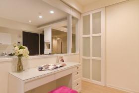 简约风格白色卧室梳妆镜欣赏