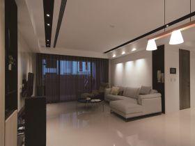 米灰色现代客厅设计图片