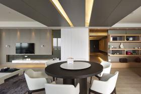 灰色现代风格餐厅吊顶图片赏析