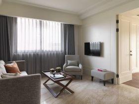 灰色休闲简约客厅背景墙效果图赏析