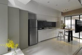 灰白色简约风格厨房设计案例