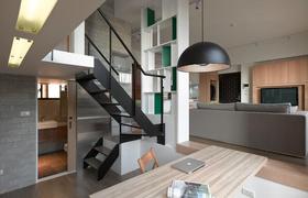 黑色现代大气客厅装潢设计