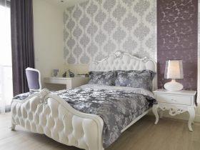 简欧雅致风格灰色卧室装修案例