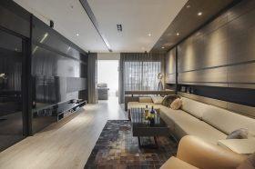 黑色大气现代客厅设计