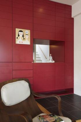 红色个性简约雅致收纳柜设计赏析