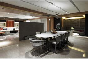 灰色大气轻盈现代风格餐厅装饰设计图片
