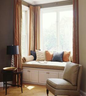 混搭风格米色休闲飘窗设计案例