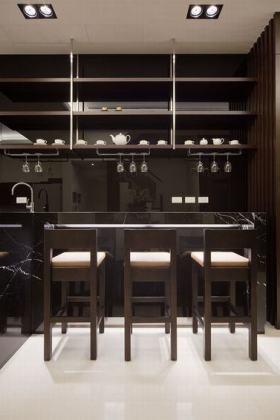 黑色凝练时尚现代风格吧台欣赏