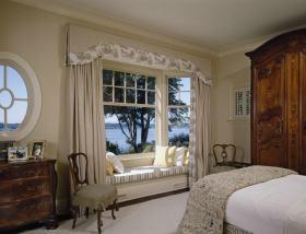 复古优雅舒适美式风格飘窗装潢案例