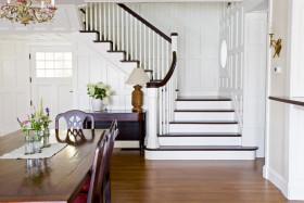 欧式风格时尚白色楼梯设计案例