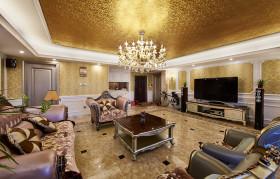 华丽大气新古典雅致别墅客厅装潢欣赏