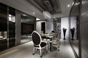 黑色轻奢雅致新古典风格餐厅装修