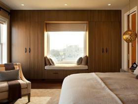 个性简约质朴自然现代风格卧室飘窗欣赏