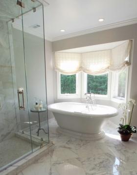 简约风格白色时尚卫生间窗帘赏析