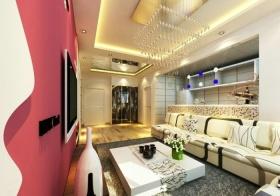 浪漫唯美混搭风格客厅装潢设计