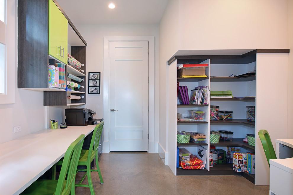 创意个性实用混搭书房装修图