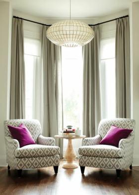 现代风格米色窗帘设计案例