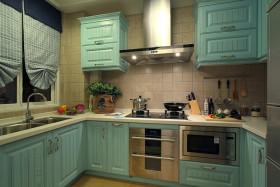 绿色创意混搭风格厨房橱柜赏析