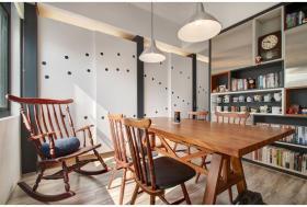 原木色宜家风格餐厅桌椅美图