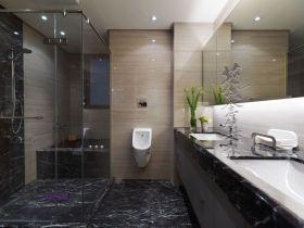 精致时尚黑色现代风格卫生间设计案例