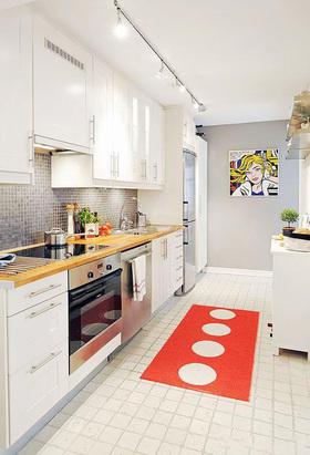 摩登创意自然混搭风格厨房装修图片