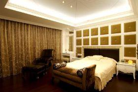 褐色美式卧室装修效果图片