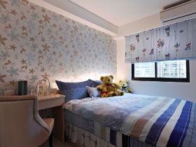 蓝色简约儿童房装修设计效果图