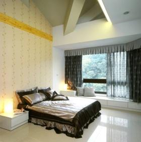 黄色混搭简约风格窗帘设计赏析