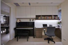 米色时尚现代风格书房效果图设计