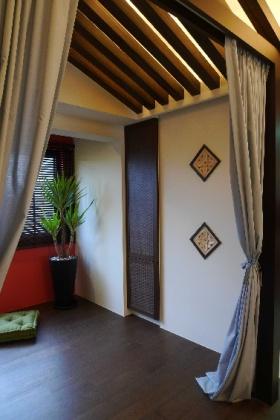 东南亚雅致时尚窗帘设计图片