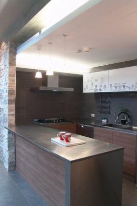 2016时尚灰色现代风格吧台效果图设计