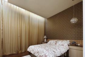褐色东南亚风格卧室设计图片