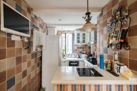 精致浪漫混搭风格厨房橱柜装饰图