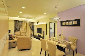 欧式风格温馨黄色餐厅设计装潢