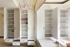 白色素雅简约实用收纳柜设计