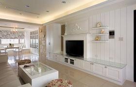 白色浪漫轻盈简欧背景墙装修案例