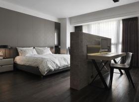 宜家风格灰色卧室隔断设计案例