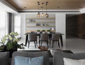 宜家风格灰色休闲餐厅设计欣赏