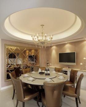 奢华精致简欧风格别墅餐厅装潢案例