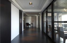 现代黑色房间过道欣赏