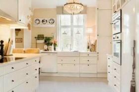 白色简约风格温馨厨房美图