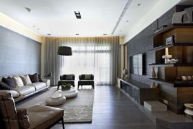 现代时尚黑色客厅设计赏析
