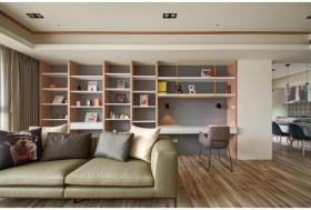 白色现代小户型客厅收纳设计赏析
