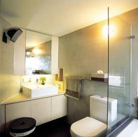 灰色现代风格卫生间图片欣赏