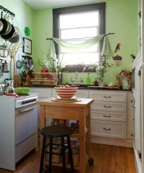 浪漫清新田园乡村风格小户型厨房设计赏析